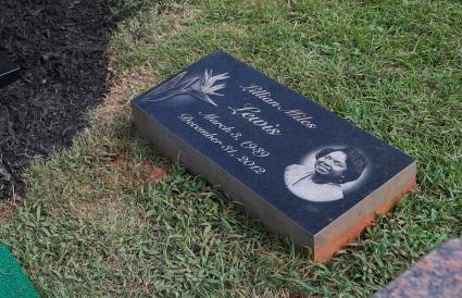 Lilian Miles Lewis's headstone