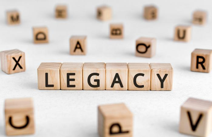 Legacy - words from wooden blocks