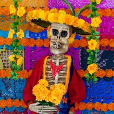 Yellow flowers at Day of the Dead