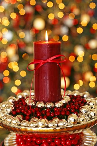 Candle in Decorative Holiday