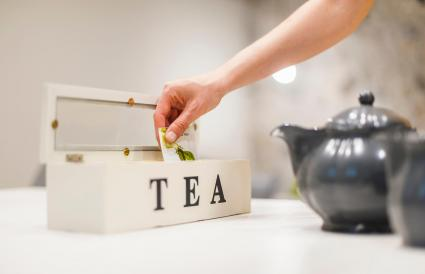 Woman preparing tea