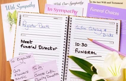 funeral planning notebook