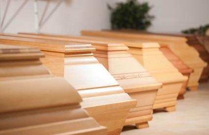 multiple wood caskets