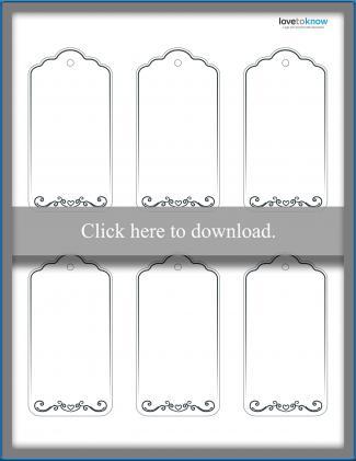 Heart motif funeral tags