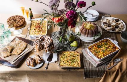 Brunch buffet table