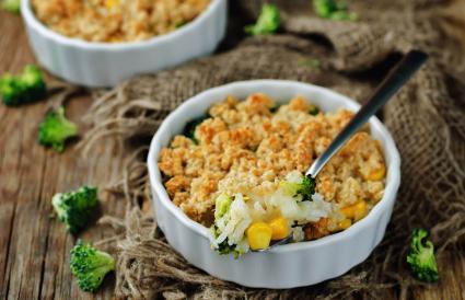Rice broccoli corn casserole