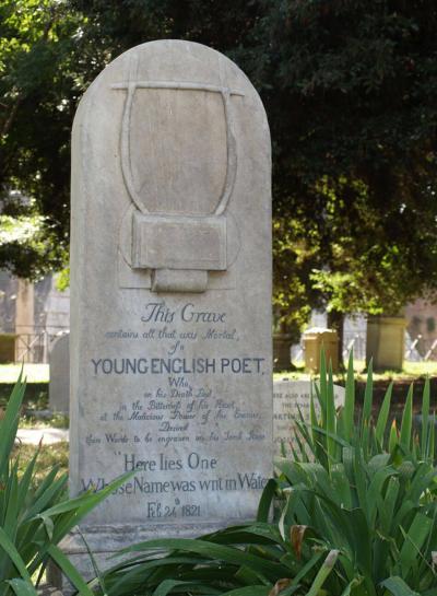 John Keats Tombstone in Rome