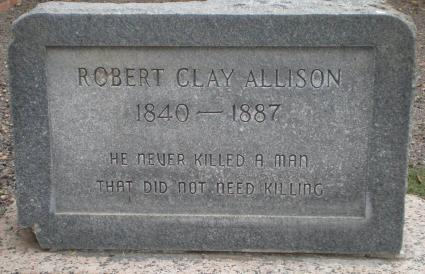 Clay Allison tombstone