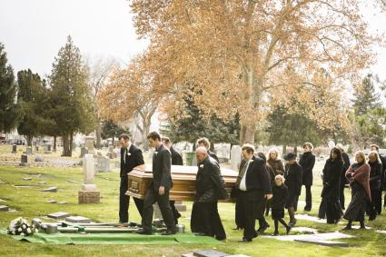 funeral procession graveside