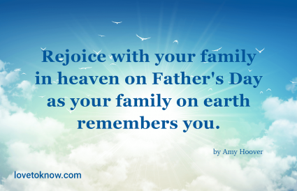 happy father's day in heaven message
