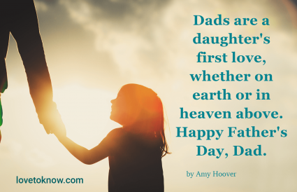father's day in heaven quotes from a daughter