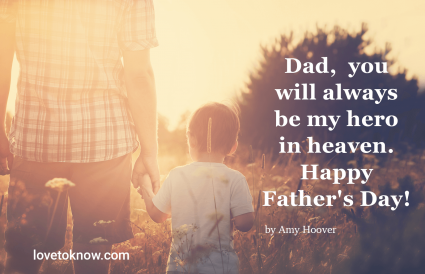 father's day in heaven quotes from a son