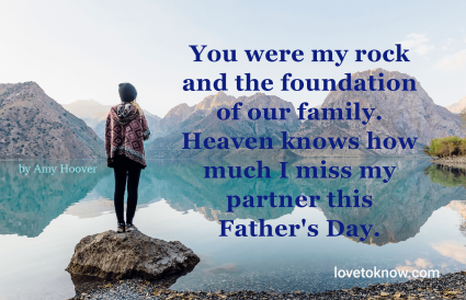 father's day in heaven quotes to my husband