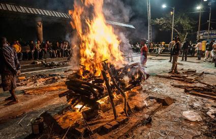Hindu Cremation, India