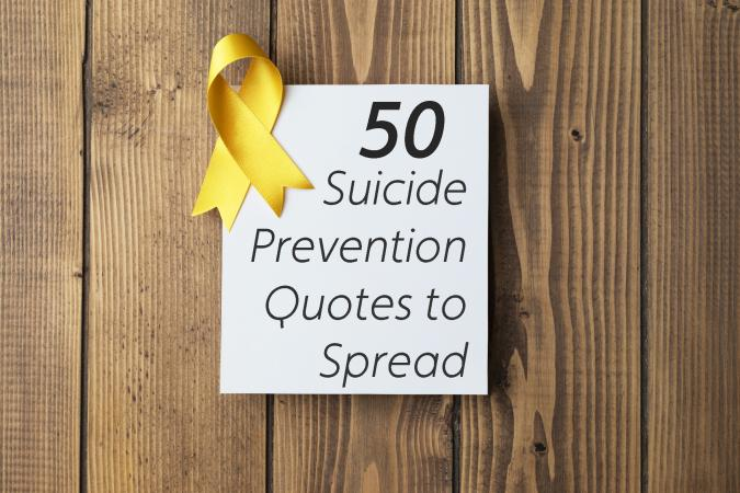 Card with Suicide Awareness Ribbon