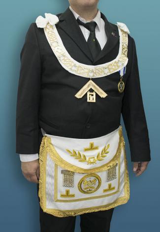 Masonic regalia worn by a freemason