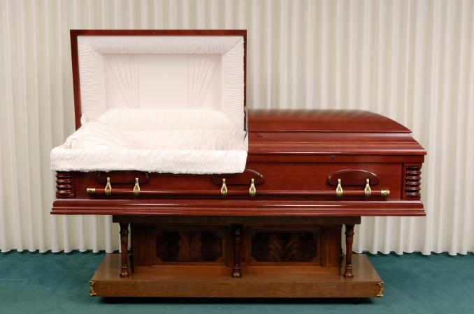 Decorative and ornate funeral bier