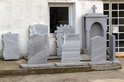 Display of headstones for sale