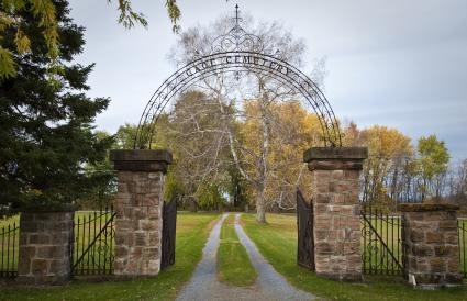 Gate entrance to cemetery
