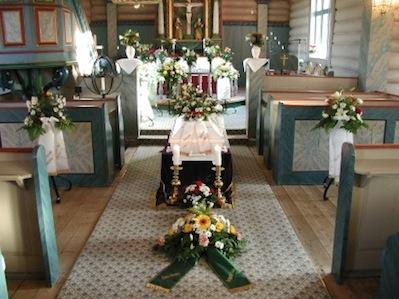 Funeral in a church.