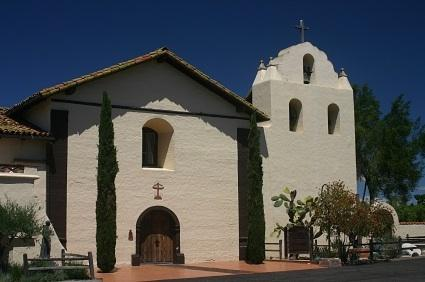 Mission Santa Ines outside of Solvang, California.