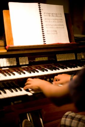 Organ music offers comfort at a funeral.