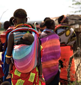 Women and children of the Samburu tribe of Kenya.