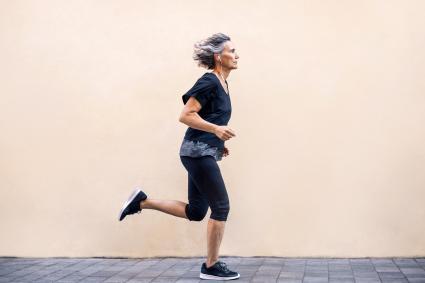 Mujer haciendo jogging
