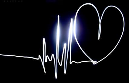 Ritmo cardíaco con corazón