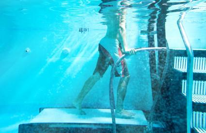 Cinta de correr bajo el agua
