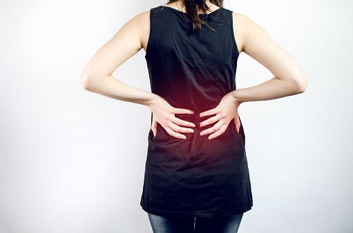 Woman Feeling Pain In Back