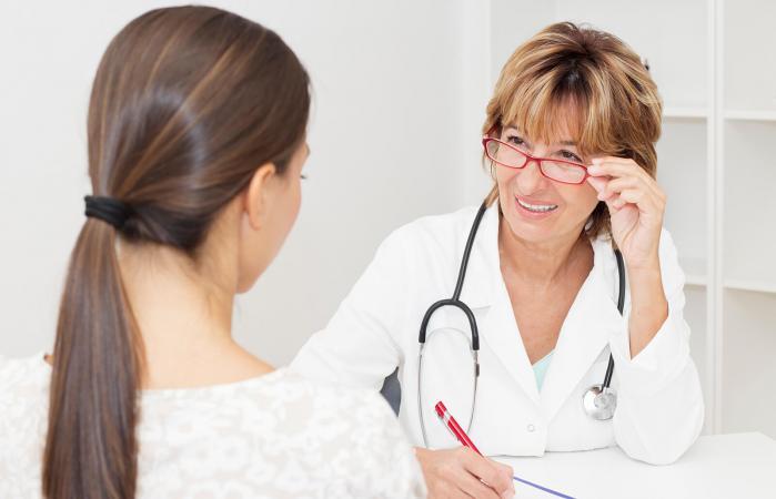 Doctora y paciente