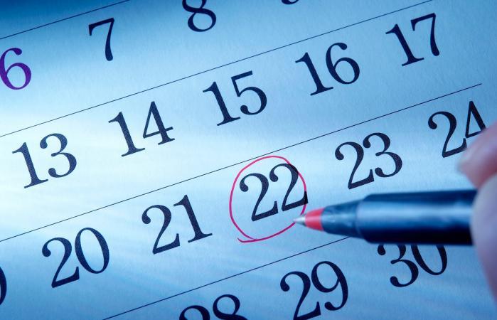 Marcando fecha en el calendario