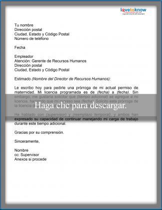 Ejemplo de carta con solicitud de extensión de licencia