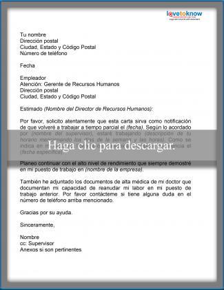 Ejemplo de carta con solicitud de cambio de horario