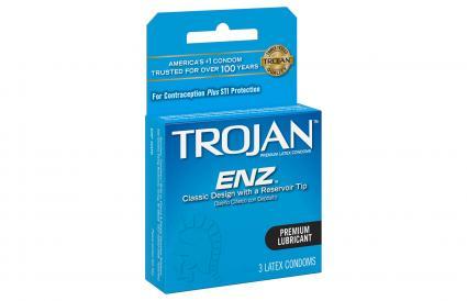 Trojan ENZ Premium Lubricant Latex Condom