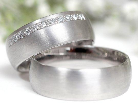 Brushed Metal Rings