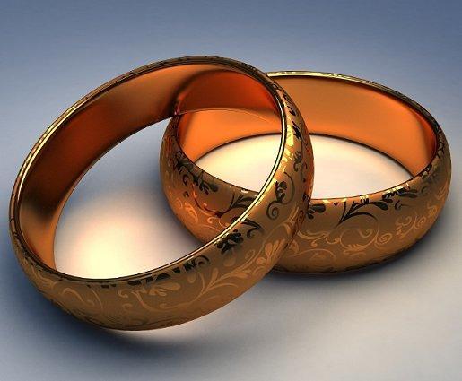 Laser Etched Wedding Bands