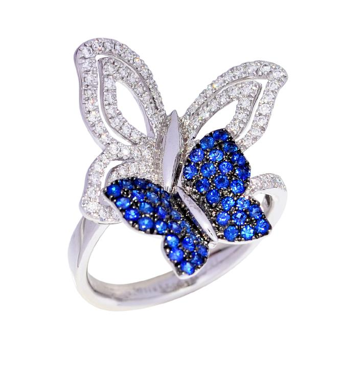 double butterflies - Butterfly Wedding Rings