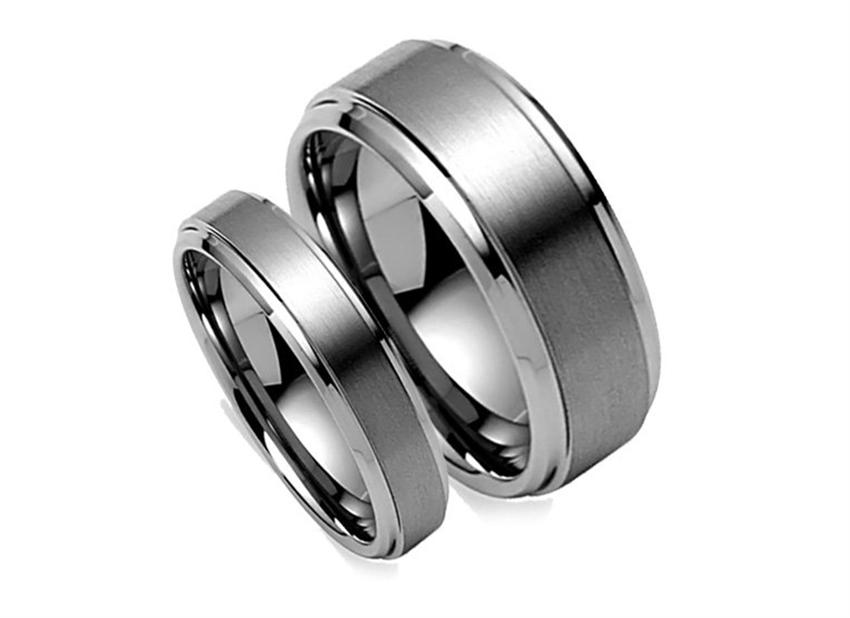 tungsten carbide ring - His Hers Wedding Rings