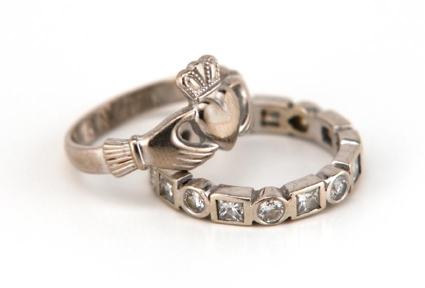claddagh set - Claddagh Wedding Rings