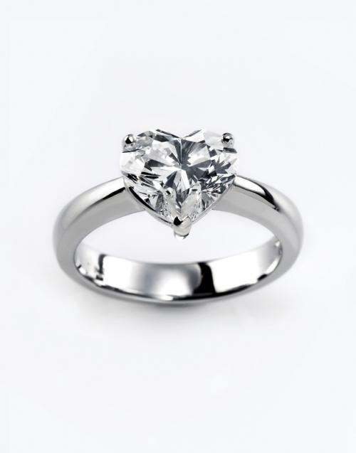heart shaped diamond ring solitaire - Heart Shaped Wedding Ring