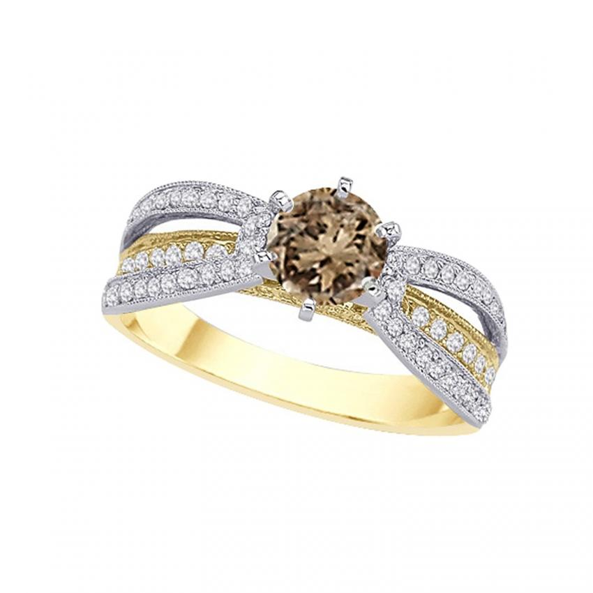 leaf ct inspired rose engagement diamond gold product p and brown bouquet vine ring nature