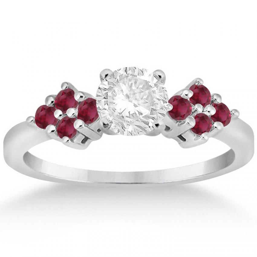 lovetoknow of a wiki diamond flower accent photos and engagement rings accents ruby in with cluster