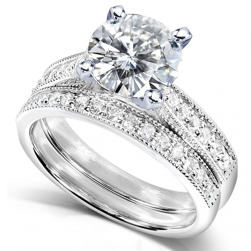 wedding set - Moissanite Wedding Rings