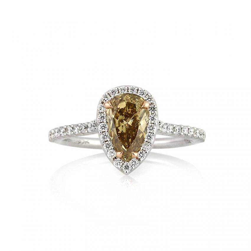 pear rg engagement gold stone ring nl rings rose shaped jewelry white with three diamond in