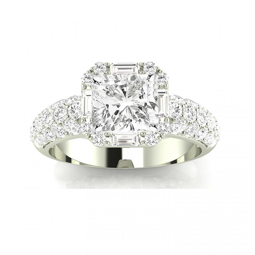 platinum cut f diamond ring cluster halo double engagement dress cushion rings