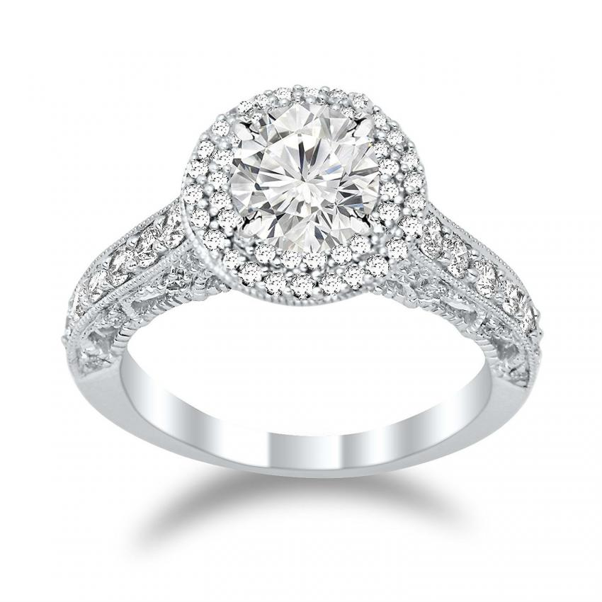 ring in detailed setting - Big Diamond Wedding Rings
