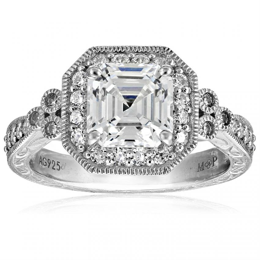 pave set cubic zirconia ring - Cheap White Gold Wedding Rings