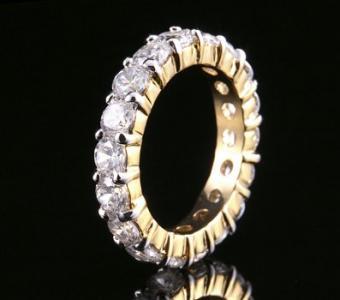 Pave Setting Diamond Anniversary Ring Photos